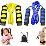 Ponydash 2 Pack Speed Kids Jump Ropes, Lightweight &Adjustable & Durable Fitness Jumping Rope-Exercise Skipping Rope for Wome