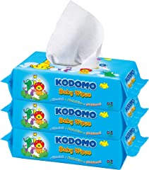 Kodomo Baby Wipes Triple Pack, Refreshing, 70ct (Pack of 3)