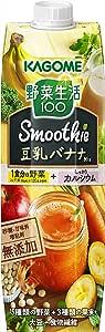 カゴメ 野菜生活100 Smoothie 豆乳バナナMix 1000g ×6本