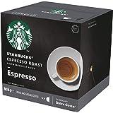 Starbucks Espresso Roast by NESCAFÉ Dolce Gusto Dark Roast Coffee Pods, Box of 12 Capsules, 66g (12 Serves)