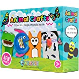 Craftikit Arts and Crafts for Kids - 20 All-Inclusive Fun Toddler Craft Box for Kids - Organized Art Supplies for Kids Ages 3