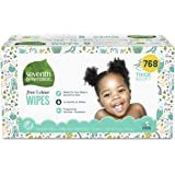 Seventh Generation Baby Wipes, Free & Clear Unscented and Sensitive, Gentle as Water, with Flip Top Dispenser, 768 Count (Pac