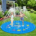 "Hotdor Sprinkle & Splash Play Mat 68"" Sprinkler for Kids Outdoor Water Toys for 3-12 Year Old Boys Girls Children Outdoor Par"