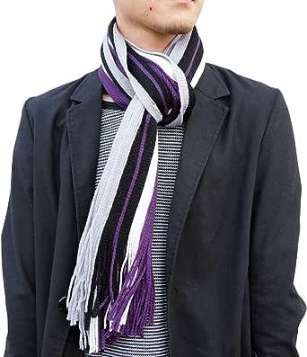 (Searaci) メンズ 紳士 大人 シック デザイン ストライプ マフラー スタイル ストール カラフル
