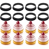 sundan 8PCS Tart Ring Round Cake Moulds Cake Rings Mousse Mould, Cake Mould Perforated Cutter Round-Shape Mousse Circle Ring