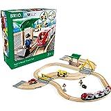 BRIO ( ブリオ ) WORLD レール&ロードトラベルセット [全33ピース] 対象年齢 3歳~ ( 電車 おもちゃ 木製 レール ) 33209