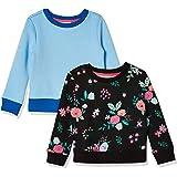 Amazon Essentials Little Girl's Girls' 2-Pack Crewneck Sweatshirt Dress