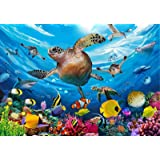 100 Piece Jigsaw Puzzles for Kids Age 4-8, Turtle Puzzle Learning Toy, Pieces Fit Together Perfectly