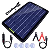 ECO-Worthy 12V 5W 10W Solar Car Battery Charger & Maintainer, Solar Panel Trickle Charger, Portable Power Backup Kit with All