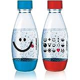 SodaStream Bottles 0.5 Liter Red and Blue