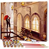 Opalberry Paint by Numbers for Adults Framed Canvas - Adults' Paint-by-Number Kits - Framed Paint by Numbers for Adults Begin