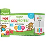 Orgain Organic Kids Protein Nutritional Shake, Strawberry - Great for Breakfast & Snacks, 21 Vitamins & Minerals, 10 Fruits &