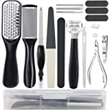 Happy Will 16 PCS Professional Pedicure Foot File Foot Rasp Set Stainless Steel Foot File Pedicure Kit Deadskin Callus Remove