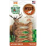 Nylabone Healthy Edibles Wild Venison Dog Treats | All Natural Grain Free Dog Treats Made in The USA Only | Small and Large D