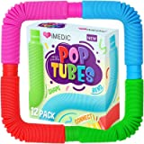 iMedic 12pcs Pop Tubes-Sensory Fidget Toys for Children or Adults, Autism and Special Needs. Reduce Anxiety and Stress-ADHD O
