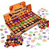 50 Pieces Halloween Assorted Stamps Kids Self-Ink Stamps (25 DIFFERENT Designs, Plastic Stamps, Trick Or Treat Stamps, Spooky