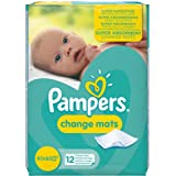 Pampers Super Absorbent Baby Disposable Change Mats, 12 Count