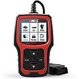 ANCEL AD410 Enhanced OBD II Vehicle Code Reader Automotive OBD2 Scanner Auto Check Engine Light Scan Tool (Red-Black)