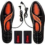 高温電熱インソール 遠赤外線 インソール(21-31 cm)、4レベル調整リチウム電池、水洗い可