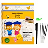 EliteKids Large Magic Practice Copybook for Kids. Letter Tracing Alphabet Book, Phonics and Handwriting Book in English. Pre