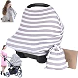 Nursing Cover for Baby Breastfeeding - Car Seat Canopy by KeaBabies - All-in-1 Soft Breathable Stretchy Carseat Canopy - Infi