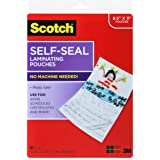 Scotch Self-Sealing Laminating Pouches LS854-10G, Gloss Finish, Letter Size (Pack of 10)