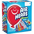 Airheads Candy Bars, Variety Halloween Bulk Box, Chewy Full Size Fruit Taffy, Back to School for Kids, Non Melting, Party 60
