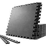 SOLPEX トレーニング ジョイントマット エクササイズマット 防音 衝撃吸収マット ホームジム 大判 ジムマット 6…