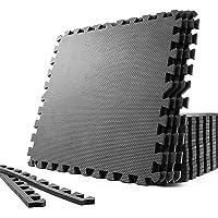 SOLPEX 訓練 拼接墊 鍛煉墊 隔音 減震墊 家庭健身房 大尺寸 健身墊 60厘米×60厘米×1.2厘米 6/24片…