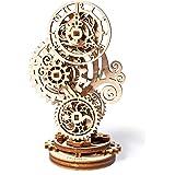 Steampunk Clock Ugears 3D Mechanical Model, Self-Assembling DIY Craft Set, Wooden Box School Project