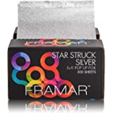 Framar Star Struck Silver Pop Up Hair Foil, Aluminum Foil Sheet, Hair Foils For Highlighting - 500 Foil Sheets