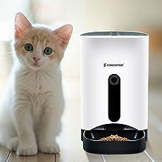 Kingstar 自動給餌器 猫 犬 タイマー式 録音可 自動 餌やり機 えさやり オートフィーダ イヌネコ 給餌器