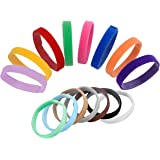 Whaline 15 Colours Puppy ID Collars Whelping Dog Band Newborn Soft Fabric Adjustable Identification Collar for Pet Dog Cat