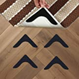 Topcovos Rug Gripper - Non Slip Rug Pad Double Sided Anti Curling Reusable and Washable Rug Gripper for Rugs &Carpet(4 Pack)