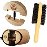 Premium Hat Stretcher with BONUS Hat Brush & Ebook. HAT MATE. Solid Wood, One Size Fits All, Heavy Duty, Hat Stretchers & Clo