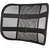 Go Lumbar Support Mesh Back Cushion for Car Seat Desk Office Chair [UPGRADE VERSION WITH STRAP], Recommended by Chiropractor