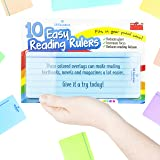 SB Education 10 x Dyslexia Reading Strips with Coloured Overlays. Reading Tracking Rulers for Dyslexia Irlens, ADHD and Visua