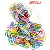 Color Mini Paper Clips, Metal Coating, Office Learning Materials Finishing Multiple Colors Filing Sub-category Needle 28 * 0.