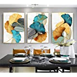 modern Ginkgo Biloba Gold Leaves Abstract Poster Nordic Canvas Print Plant Leaf Wall Art Painting Modern Picture Room Deco mu
