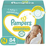 Diapers Newborn/ Size 0 (< 10 Lb), 84Count - Pampers Swaddlers Disposable Baby Diapers, Super Pack