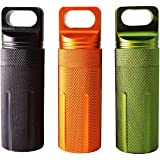 Canku EDC Waterproof Case Military Level Survival Pill Match Case Box Container CNC Metal Seal Bottle Camping Essentials Tool