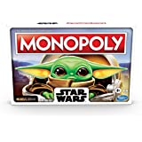 Monopoly - Star Wars - The Child Edition Board Game - Featuring Grogu - Baby Yoda - 2 to 4 Players - Family Board Games and A