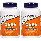 2本セット GABA ガンマアミノ酪酸、500 mg、100粒 ナウフーズ Now Foods [並行輸入品]
