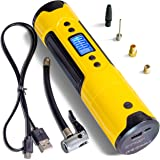 Portable Air Pump Mini Wireless Electric Compressor - Wheel Blower - USB Fast Rechargeable With LED Flashlight And Smartphone