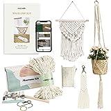 DIY Macrame Kit for Adults Beginners : 1 Wall Macrame + 1 Macrame Plant Hanger + 1 Macrame Keychain. Stunnine Macrame Starter