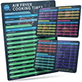 """Air Fryer Magnetic Cheat Sheet Set of 3, SHANJE 10.7 x 7""""Bigger Font Soft Magnetic Recipes, Air Fryer Cooking Accessories and"""