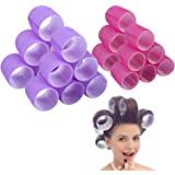 Jumbo Size Hair Roller sets, Curler Rolelrs.Self Grip, Salon Hair Dressing Curlers, Hair Curlers 12XJUMBO+12XLARGE