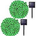 JMEXSUSS 2PCS Solar String Lights 75.5ft 8 Modes Solar Christmas Lights Waterproof for Gardens,Wedding,Party,Homes, Christmas