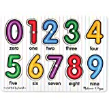 Melissa & Doug 3273 See-Inside Numbers Wooden Peg Puzzle (10 pcs)
