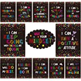 Growth Mindset Posters for Classroom Bulletin Board Display, Yoklili Confetti Themed What is Your Mindset Positive Sayings Ac